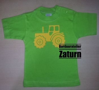 Baby t-shirtje tractor maat 74